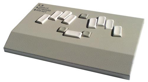 Braille keyboard billenytűzet